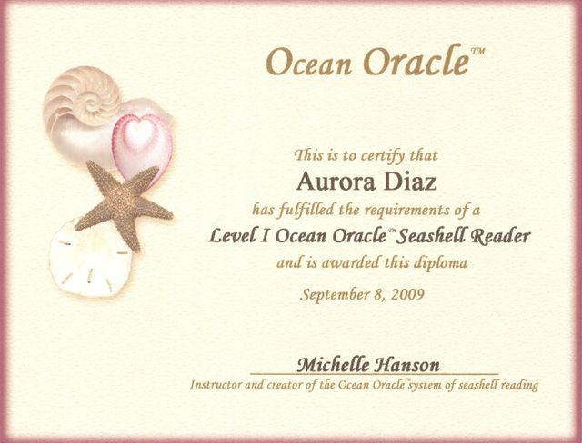 Certificado de Lectura Avanzada Nivel I - Ocean Oracle