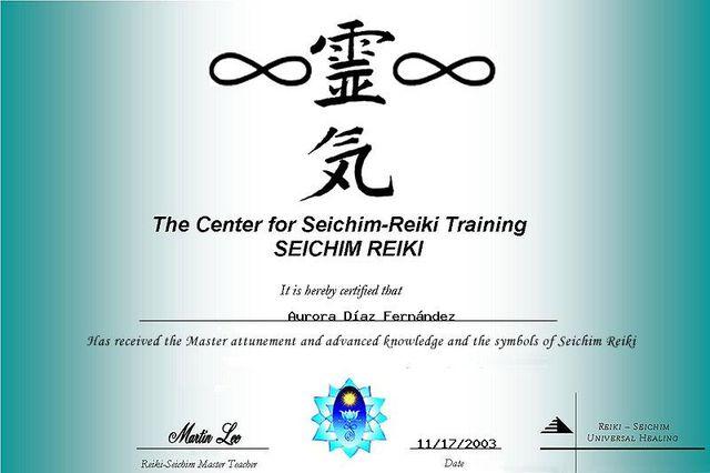 Certificación en el método del Seichim Reiki
